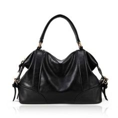 Casual PU Leather Vintage Style Belts and Buckles Design Women's Tote (BLACK) At Price 14.18 - DressLily.com