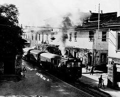 Bellusco - Il Gamba de legn in una fotografia del dopoguerra