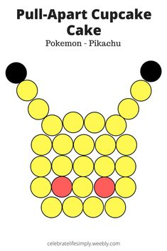 Parties Pokemon – Pikachu Pull-Apart Cupcake Cake Template The post Parties appeared first on Poke Ball. Pokemon Cupcakes, Pikachu Cake, Pokeball Cake, Minecraft Cupcakes, Ladybug Cupcakes, Kitty Cupcakes, Snowman Cupcakes, Pokemon Themed Party, Pokemon Birthday Cake