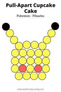 Pokemon - Pikachu Pull-Apart Cupcake Cake Template