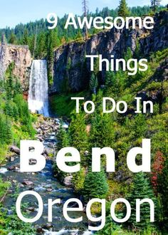 9 Awesome Things To Do In Bend Oregon. This concise list has it all, from the incredible lakes of the Cascades, through the Tumalo waterfall, Newberry Volcanic Monument and even the High Desert Museum. Check out my list of 9 Awesome Things To Do in Bend, Oregon Vacation, Oregon Road Trip, Oregon Trail, Vacation Spots, Road Trips, Vacation Ideas, Crater Lake Oregon, Vacation Places, Vacation Destinations