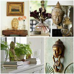 BUDA Símbolo budista, a figura do Buda tem inúmeras representações e cada uma delas contém um significado específico – no geral, ela está associada à iluminação, à paz, ao amor e à felicidade. A estátua do Buda sorridente, por exemplo, é tida como um símbolo da fartura e da riqueza. Ela deve ser disposta sobre um pires com arroz e algumas moedas para atrair boa sorte e prosperidade.