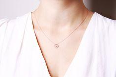 Naszyjnik z różowego złota z diamentem - Biżuteria srebrna dla każdego tania w sklepie internetowym Silvea