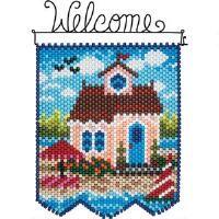 Herrschners® Summer Cottage Beaded Banner Kit