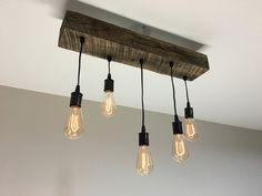 Choose Size Made to Order Reclaimed Barn Timber Beam Light Fixture With Edison Bulbs Rustic/Modern/Industrial Lighting/Bar/Restaurant/Home* Industrial Lighting, Modern Industrial, Bar Lighting, Modern Rustic, Bar Light Fixtures, Bar Restaurant, Timber Beams, Door Bar, Front Door Colors