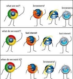 im laughing so hard this is genius. Poor internet explorer.