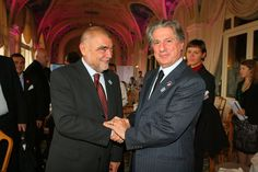 Stepan Mesic, President of the Republic of Croatia; Amine Gemayel, former President of the Lebanese Republic