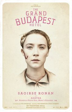 The Grand Budapest Hotel - Saoirse Ronan | #movieposter #design