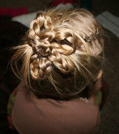 4 Creative Divas crafts, hobbies, hairstyles, and more.: little girl hair tutorial #6 braided flower
