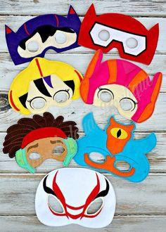 Big hero 6 inspired mask by MyWonderlandBoutique on Etsy