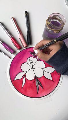 Easy Mandala Drawing, Mandala Art Lesson, Cute Doodle Art, Doodle Art Drawing, Art Drawings Beautiful, Art Drawings Sketches Simple, Artsy Captions, Pencil Drawings For Beginners, Hand Lettering Art