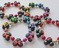 Mickey Mouse Minnie Mouse Jewelry Bracelet .