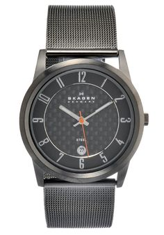 Price:$86.88 #watches Skagen 124XLMMC, Stainless steel case, Stainless Steel bracelet, Grey dial, Quartz movement, Scratch-resistant mineral, Water resistant up to 3 ATM - 30 meters - 99 feet