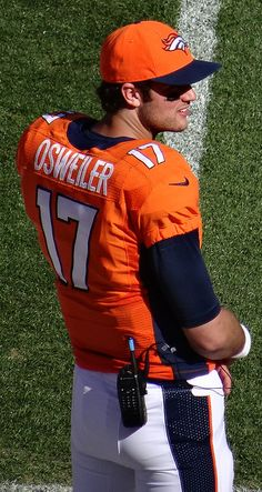 """Super Bowl 50 champion Denver Broncos' 2nd string quarterback, Brock Osweiler... he's been learning the ropes and now """"The Wizard of Os"""" is ready to take the reins from Peyton Manning ;) NFL"""
