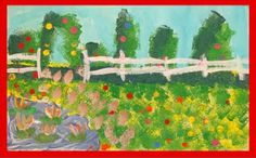 Step-by-step to Making a Monet Garden (Great for an over-time project with students!)