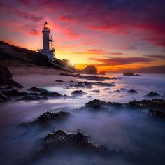 Incredible sunset at Point Lonsdale, Victoria, Australia