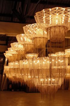 Willowlamp Flower of Life chandeliers on test