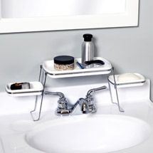 Over-the-Faucet Shelf -  Now this is convenient! It's a great space saver, especially for a camper. However, it would still be a nice item for any bathroom.