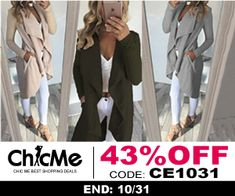 ChicMe WW Casual Wear, Choices, Kimono Top, Lady, Coat, How To Wear, Jackets, Women, Fashion
