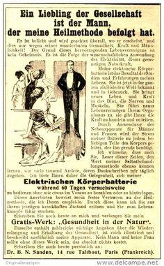 Original-Werbung/Anzeige 1912 - ELEKTRISCHE KÖRPERBATTERIE / DR.SANDEN PARIS - ca.  80 x 140 mm