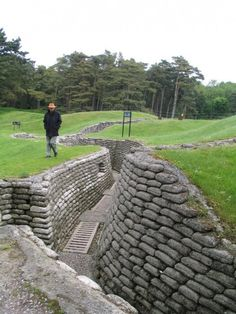 Canadian trench at Vimy