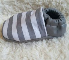Check out this item in my Etsy shop https://www.etsy.com/listing/477755235/grey-striped-baby-shoes-striped-toddler