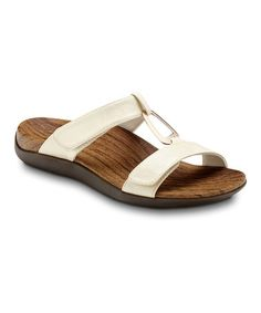 Take a look at this Ivory Layla Sandal by Orthaheel on #zulily today! $35.99, regular 75.00. Cute orthopedic sandals. GREAT for when feet swell up during pregnancy. The only shoes I wore the last trimester of pregnancy! GREAT buy for only $35.99. I spent 75!