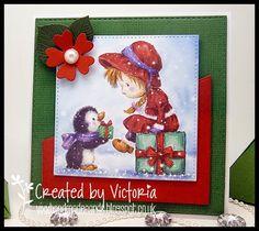 Vixx Handmade Cards: WILD ROSE STUDIO DT POST ~ GIRL & PENGUIN...