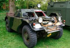 Impressive Vintage Armoured Cars - just getting around
