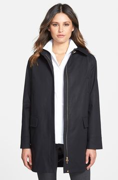 Pendleton 'Berkley' Wool Blend Twill Duffle Coat with Genuine ...