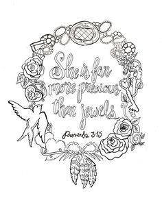 Proverbs Printable Free Coloring Devotions To Journal Gods Word Soul Doodles Scripture Memorization And The Blessings From Bible