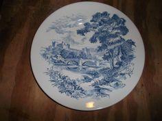 Blue/White Enoch Wedgwood Tunstall Plate England by ldsflpab