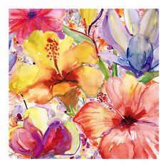 Day Lilies and Iris | Canvas | Sizes Available by Art Clearance on Brands Exclusive