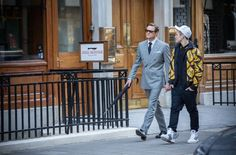 Still of Colin Firth and Taron Egerton in Kingsman: The Secret Service (2015)