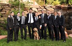 Blush mountain wedding at Louland Falls | Groomsmen photo idea | Logan Walker Photography- see more at http;//fabyoubliss.com