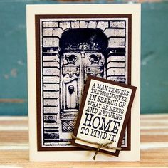 Card created by Rachel Greig using Darkroom Door 'Welcome Home' Rubber Stamp Set. http://www.darkroomdoor.com/rubber-stamp-sets/rubber-stamp-set-welcome-home