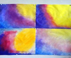 Wet On Wet Painting, Painting For Kids, Grade 1, Second Grade, 3 Arts, Learning Tools, Colorful Drawings, Watercolor Paintings, 2nd Grades