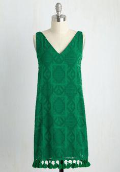 My Chimerical Romance Dress - Green, Solid, Tassels, Daytime Party, Shift… Retro Vintage Dresses, Vintage Outfits, Mod Dress, Dress Up, Unique Dresses, Casual Dresses, Green Shift Dress, Occasion Spéciale, Bohemian Style Dresses