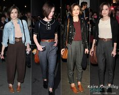 Keira Knightley casual style (with harem trousers/pants)