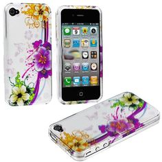 myLife (TM) Colorful Tropical Flower Chain Series (2 Piece Snap On) Hardshell Plates Case for the iPhone 4/4S (4G) 4th Generation Touch Phon...