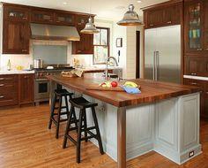 wooden remodel iroko butcher block kitchen island