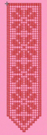 CROCHET, Embroidery, freebe, Bookmark