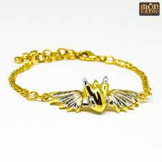 This gold warrior dragon bracelet is handcrafted from gold and rhodium plated over brass. It has an adjustable length of 14 - 19 cm circumference. Dragon Bracelet, Dragon Ring, Dragon Jewelry, Animal Rings, Ring Necklace, Stud Earrings, Silver Dragon, Jewelry Collection