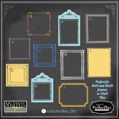 DIGITAL DOWNLOAD ... in AI, EPS, GSD, & SVG formats @ My Vinyl Designer #vinylframeideas