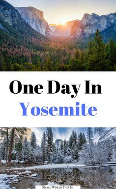 Here's a guide to how to spend a full one day in Yosemite, whether you are visiting during the spring or during the winter | yosemite one day | one day yosemite trip | yosemite national park | yosemite national park things to do | yosemite travel tips | yosemite travel #yosemite #nationalpark #california #travel