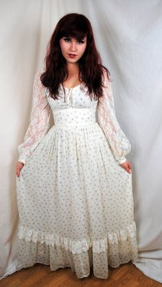 Amazing Vintage Gunne Sax Prairie Lace Dess Dress By Rogueretro 105 00 Modest Fashion
