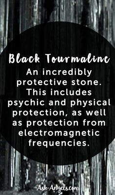Black tourmaline is well known to be an incredibly protective stone. This includes psychic and physical protection, as well as protection from electromagnetic frequencies. #emf #crystals