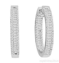 Awesome In and Out #Diamond #Hoop #Earrings.  #Jewelry.  Gorgeous !!!