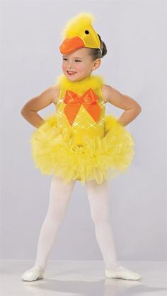 QUACK QUACK DUCK Halloween Baby Photos, Baby Halloween Outfits, Halloween Fashion, Cute Outfits For Kids, Duck Costumes, Girls Dance Costumes, Fancy Costumes, Ballet Costumes, Toddler Duck Costume