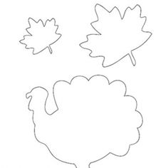 Turkey & Maple Leaf Pattern for Thanksgiving